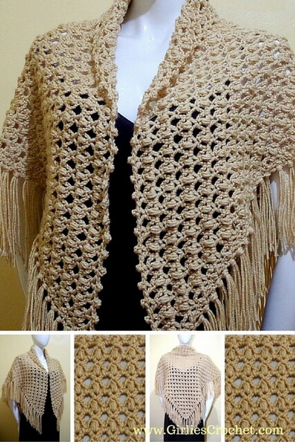 crochet shawl prayer PXQTAMW