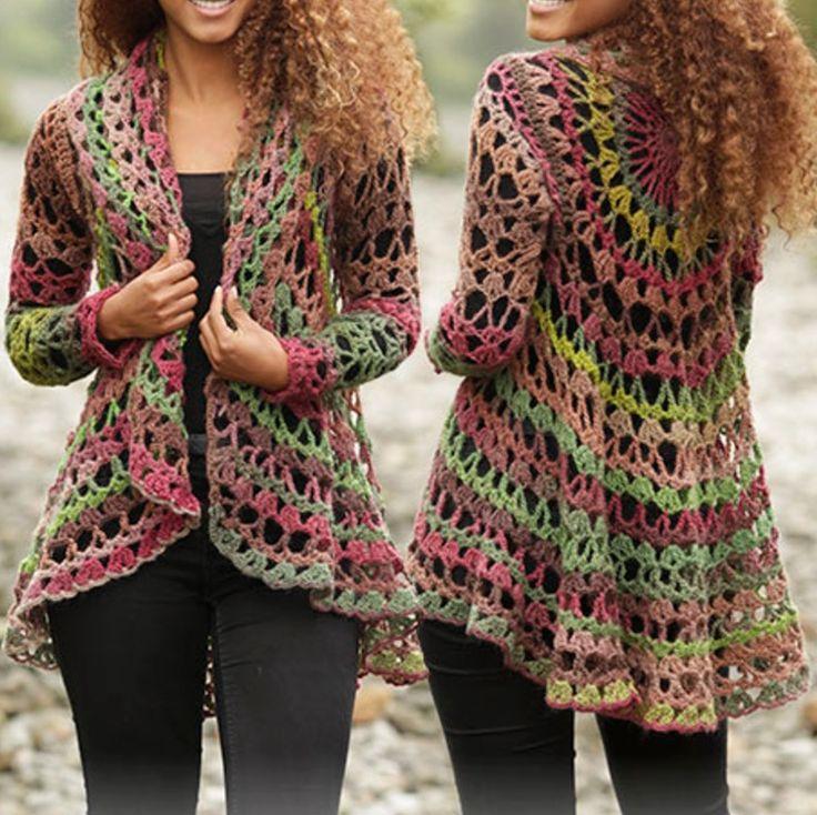 crochet shrug pattern crochet circular jacket free pattern más GQZMGNP