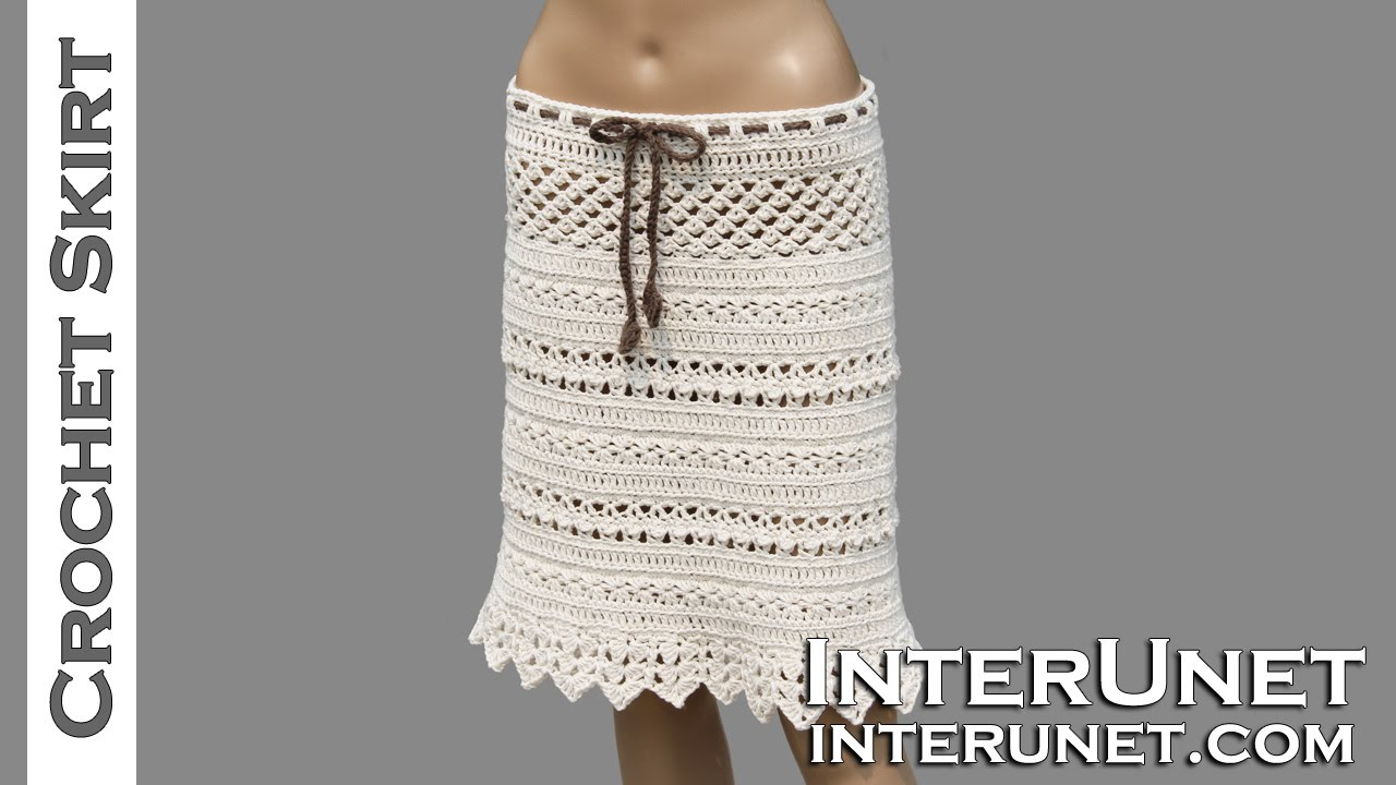 crochet skirt lace skirt crochet pattern - youtube FGRQKAV