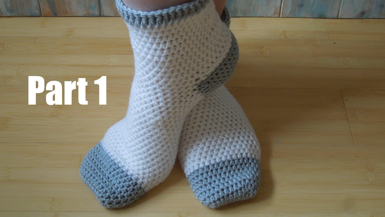 crochet socks (crochet) pt1: how to crochet adult socks - yarn scrap friday - youtube TZLKUNK