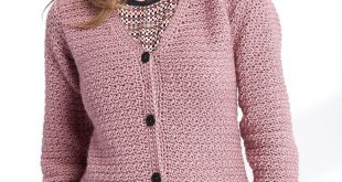 crochet sweater patterns adult crochet v-neck cardigan - patterns | yarnspirations xs to 4/5 xl VCGOJZW
