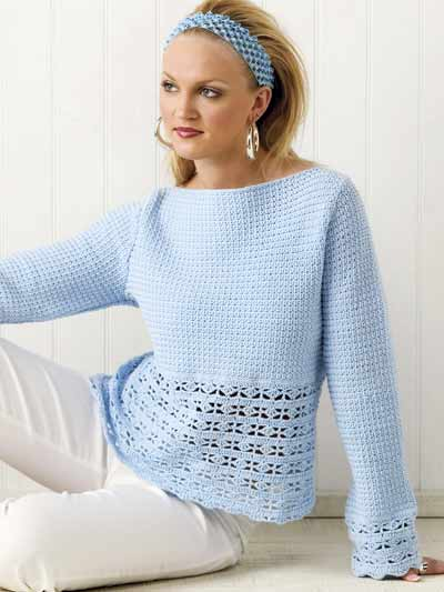 crochet sweater patterns blue heaven top FZPDDZB