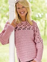 crochet sweater patterns blushing rose pullover JEWMFTO