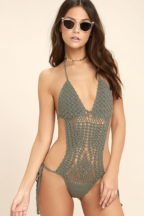 crochet swimsuit my story dusty sage crochet one piece swimsuit 1 HQDNFTP