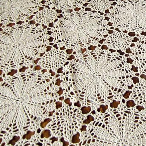 crochet tablecloth more views SLFVBZJ