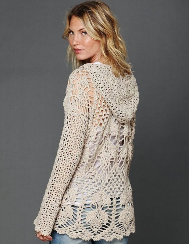 crochet tunic pattern - hoodie by free people LJRPAFB
