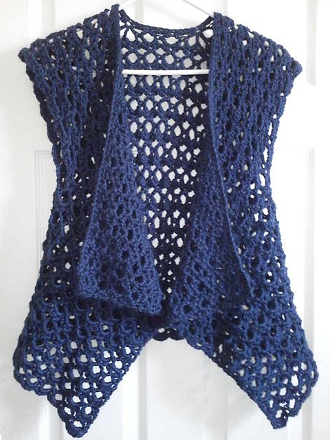crochet vest ravelry: mesh vest pattern by doris chan for lion brand yarn (crochet - free IZMBSVZ
