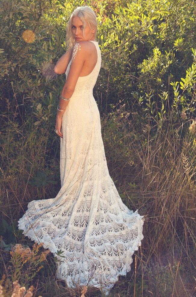 crocheted wedding dress patterns | crochet wedding dress inspiration 7 FYILTZD