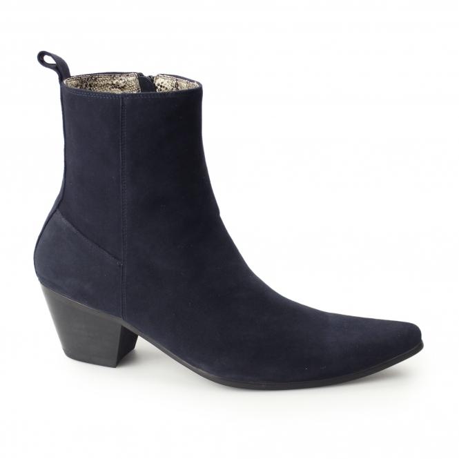 cuban heels club cubano lennon mens leather winklepicker cuban heel boots blue BWLEZYZ