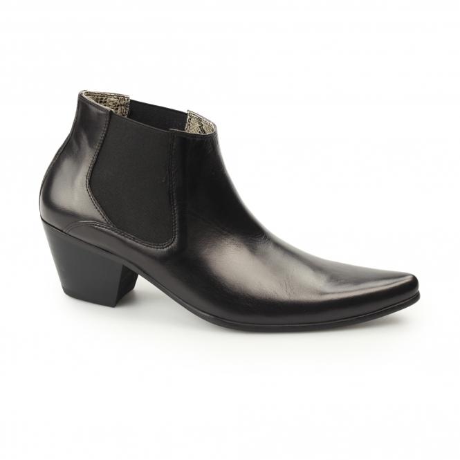 cuban heels club cubano mccartney mens leather cuban heel boots black  xjlppsm SVIUHWQ