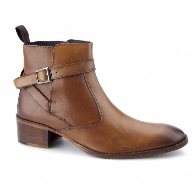 cuban heels gucinari john mens leather cuban heel boots tan OPGVPIK