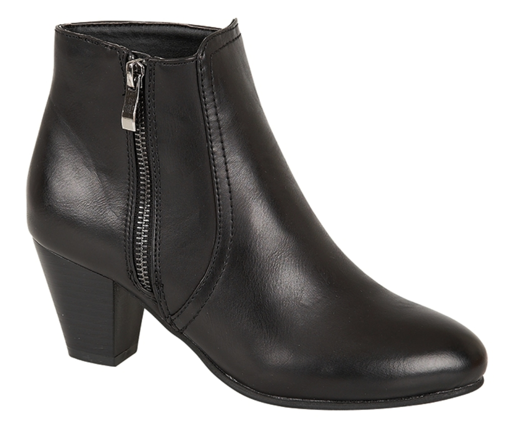 cuban heels womens block cuban heel warm winter short chelsea ankle boots ladies size  uk 4-8 WRMMHLR