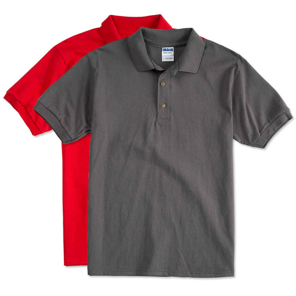 custom polo shirts design custom printed gildan ultra cotton polo shirts online at customink BLCOGAR