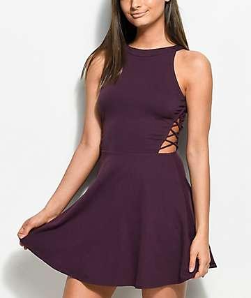 cute dresses empyre laural burgundy skater dress UBMODEQ