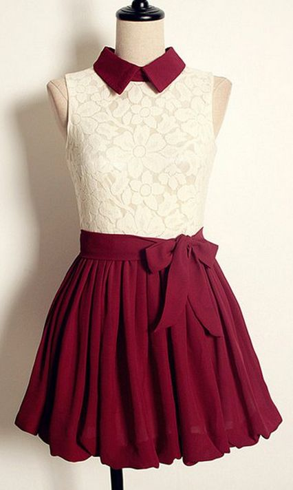 cute dresses maroon u0026 lace dress with a cute collar. lately iu0027ve just been so AKBRAGZ