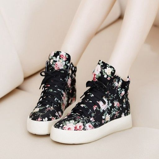 cute shoes cute floral black shoes for girl https://www.wish.com/ RUHYBFP