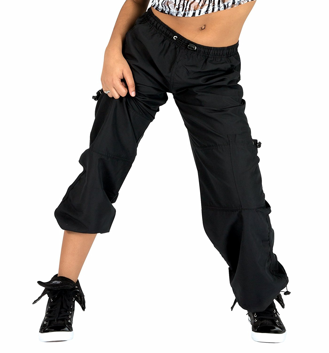 dance pants adult unisex cargo pants with drawstring waist,bp104 QOVUTXD