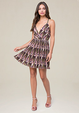 day dresses bebe camo print pleated dress WFMTION