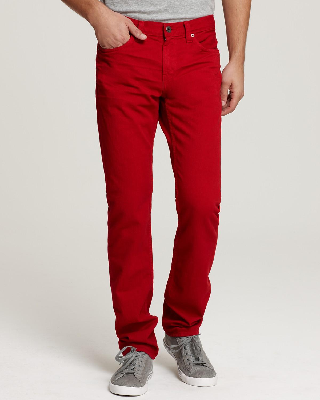 denim mens red jeans VZVPXJF