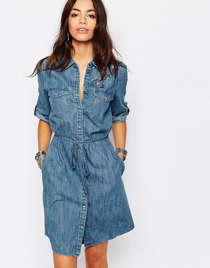 denim shirt dress 31 summer outfits youu0027ll want to wear in july (the edit). blue shirt  dressdenim IVALJWP