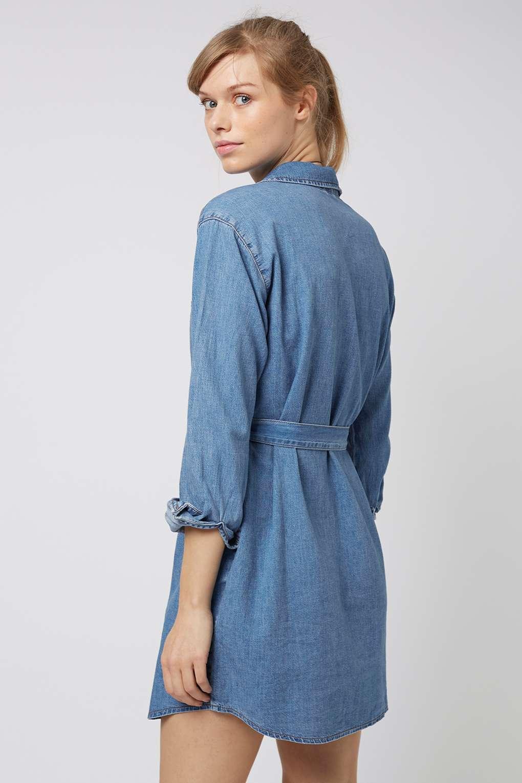 denim shirt dress moto denim shirtdress - how to wear this seasonu0027s key denim pieces - we YNRLEAH