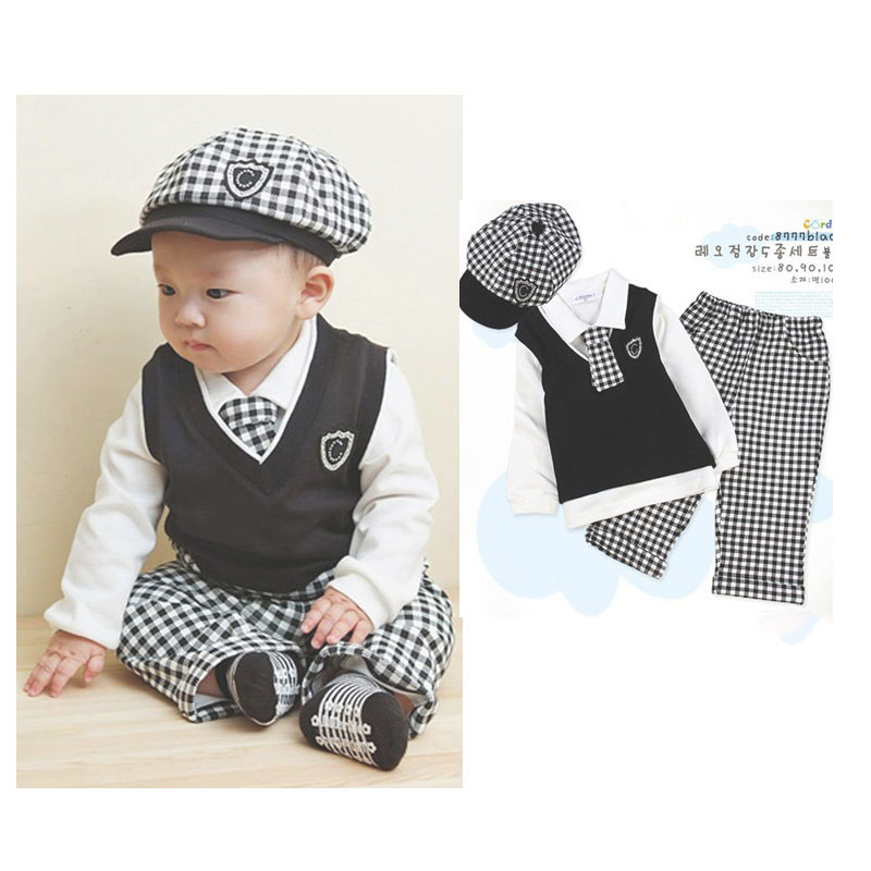 Designer Baby Clothes Newborn Boy Set 5 Pcs Formal Suits Outfit Infant