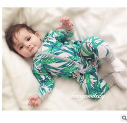 designer baby clothes newborn baby jumpsuits bamboo leaves autumn winter ins popular cotton  infant clothes rompers long LUOTUIP