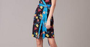 diane von furstenberg wrap dress ... new julian short-sleeve wrap dress in silese tile blue by dvf ALMVBOX