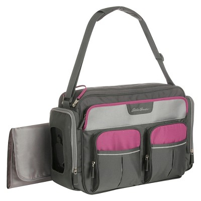 diaper bags eddie bauer places u0026 spaces duffle diaper bag - wild aster QERPLPP