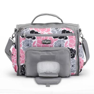 diaper bags for girls lillybit pink floral messenger bag diaper bag CPUBYAT