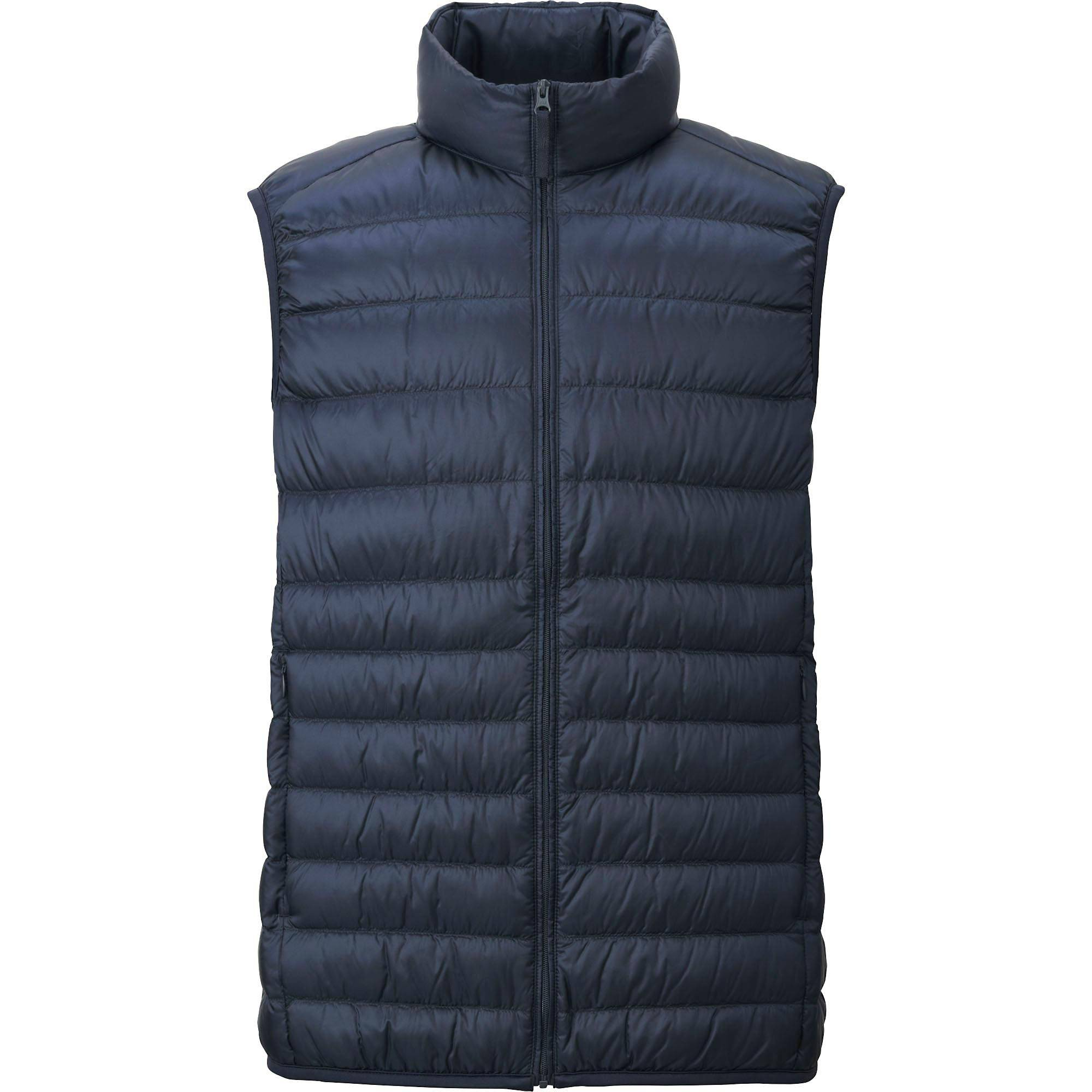 down vests men ultra light down vest, light gray, small VSNKZJX