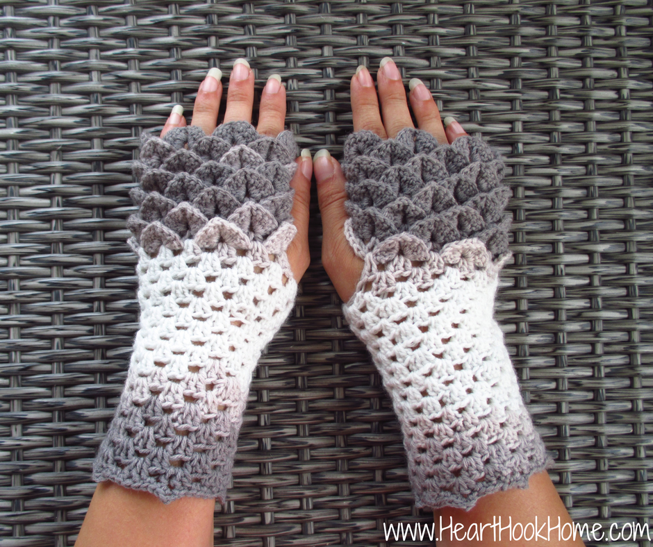 dragon tears fingerless gloves crochet pattern CXOCNSG