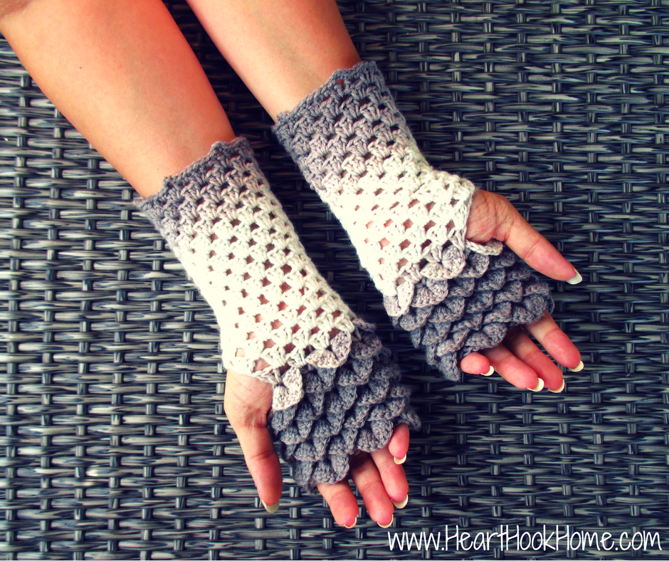 dragon tears fingerless gloves crochet pattern VYPQADS
