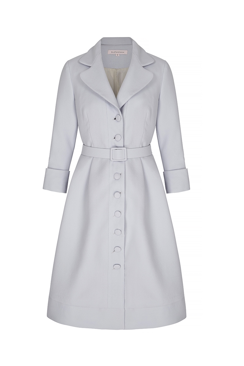dress coat princess dress-coat powder blue crepe DPKGLHM