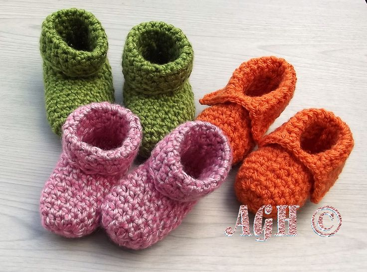 easy crochet baby booties the easiest booties. pattern for 0-6 months and 6-12 months with. crochet  booties patterncrochet TJONWCF