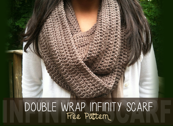 easy crochet scarf patterns double wrap infinity scarf LQVBOBV