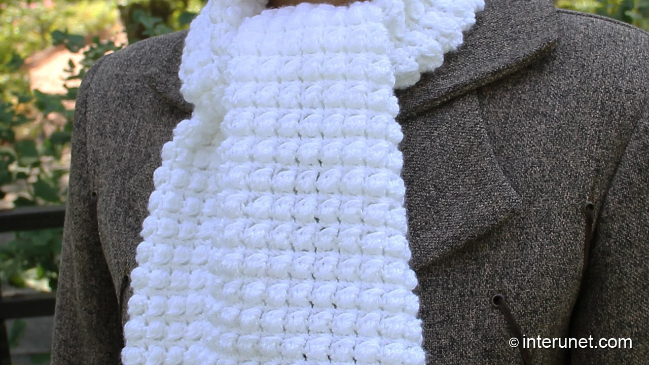 easy crochet scarf patterns how to crochet a scarf - pattern for beginners - youtube QITNXSK