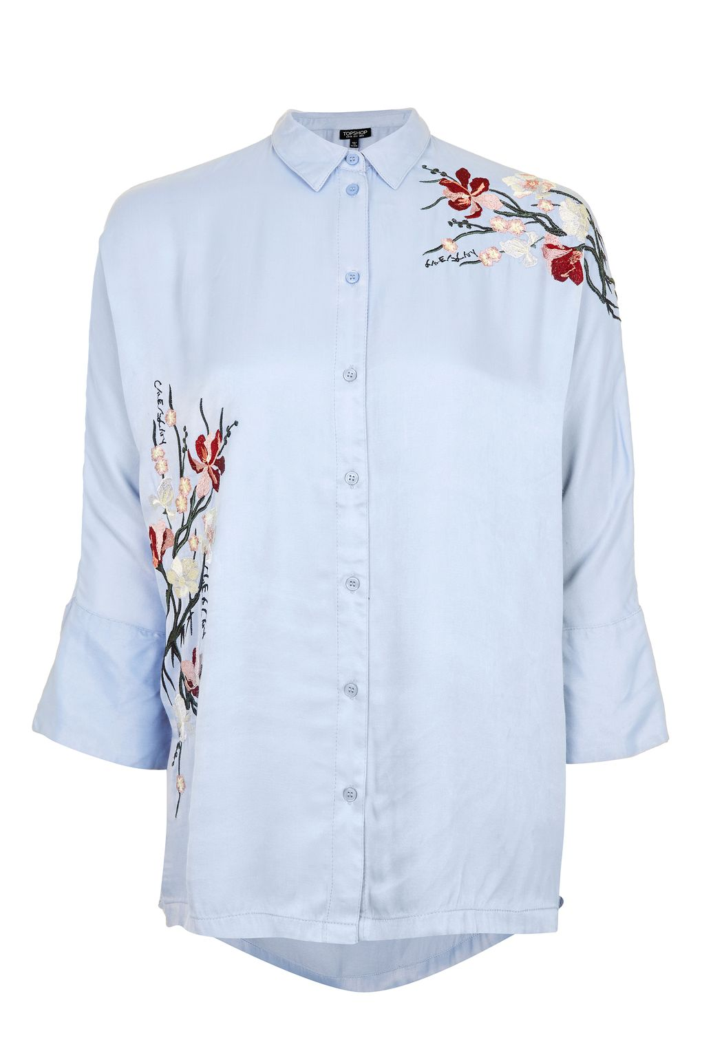 embroidered shirts tokyo fusion embroidered shirt - the wide leg crops - we love - topshop usa IZAPOXW
