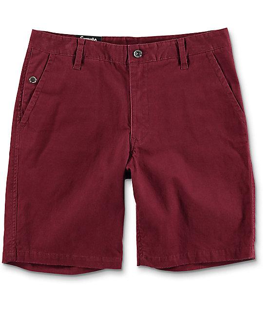 empyre calvin burgundy chino shorts XXKTRAB