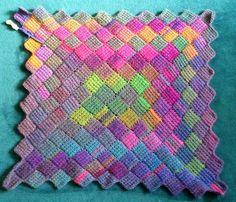 entrelac crochet ravelry: sheltiewalkeru0027s entrelac tunisian crochet throw BHCAMIH