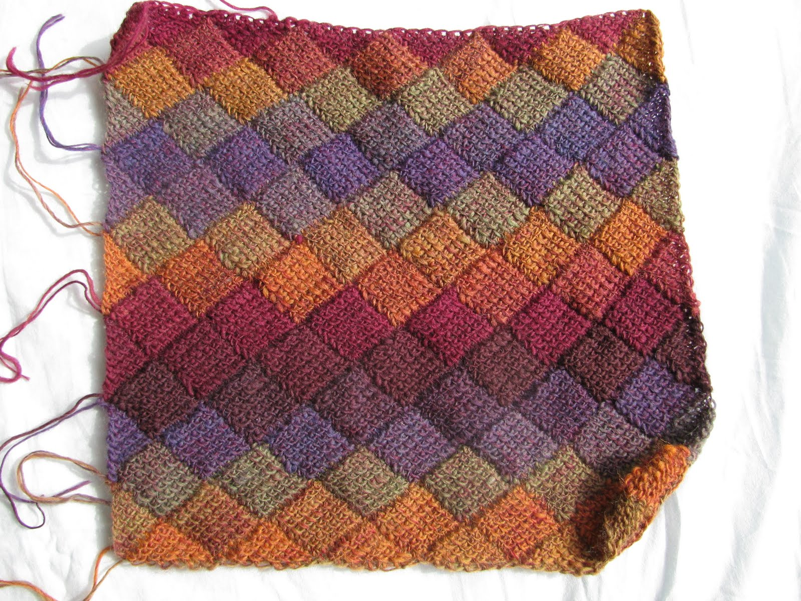 entrelac crochet you can create entrelac fabric in all sorts of different ways - knitting,  regular XEOTQXY