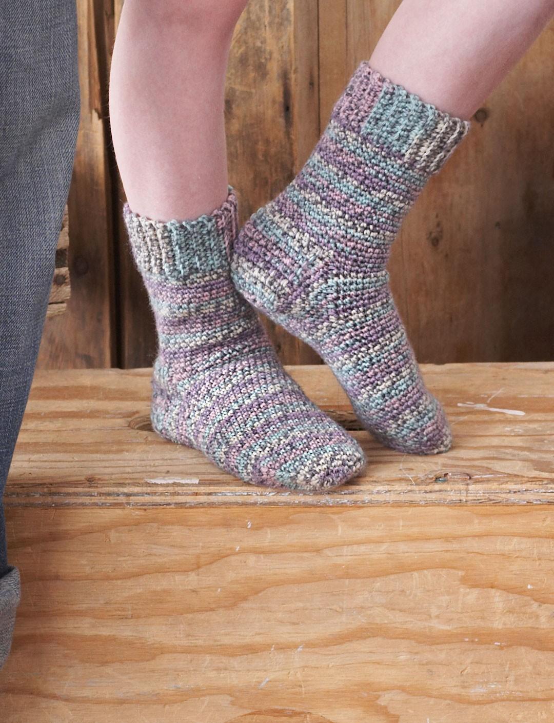 family crochet socks OWFXBFD