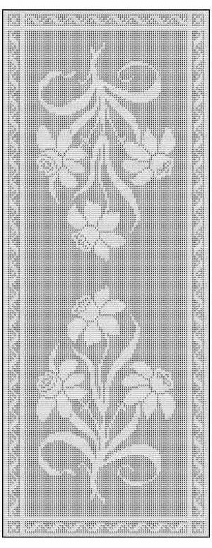 filet crochet patterns daffodil filet crochet chart free pattern for table runner XZCDAUN