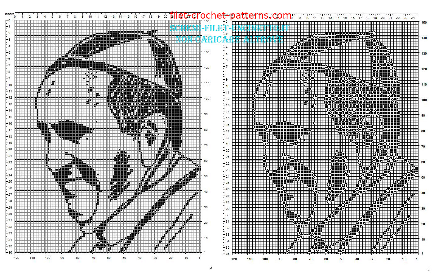 filet crochet patterns pope francis face free filet crochet pattern download IDRKPHN
