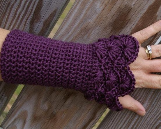 fingerless gloves crochet pattern crochet fingerless gloves pattern ZKQXEAO
