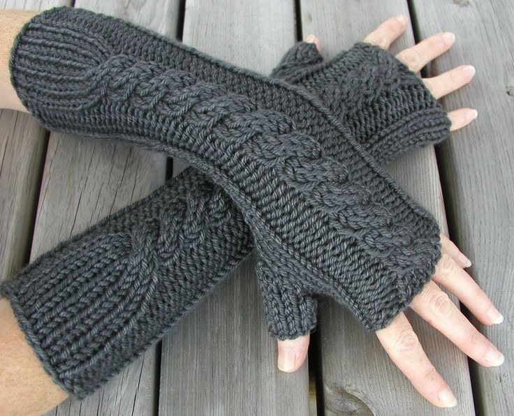 A simple and useful bulky fingerless gloves knitting pattern ...