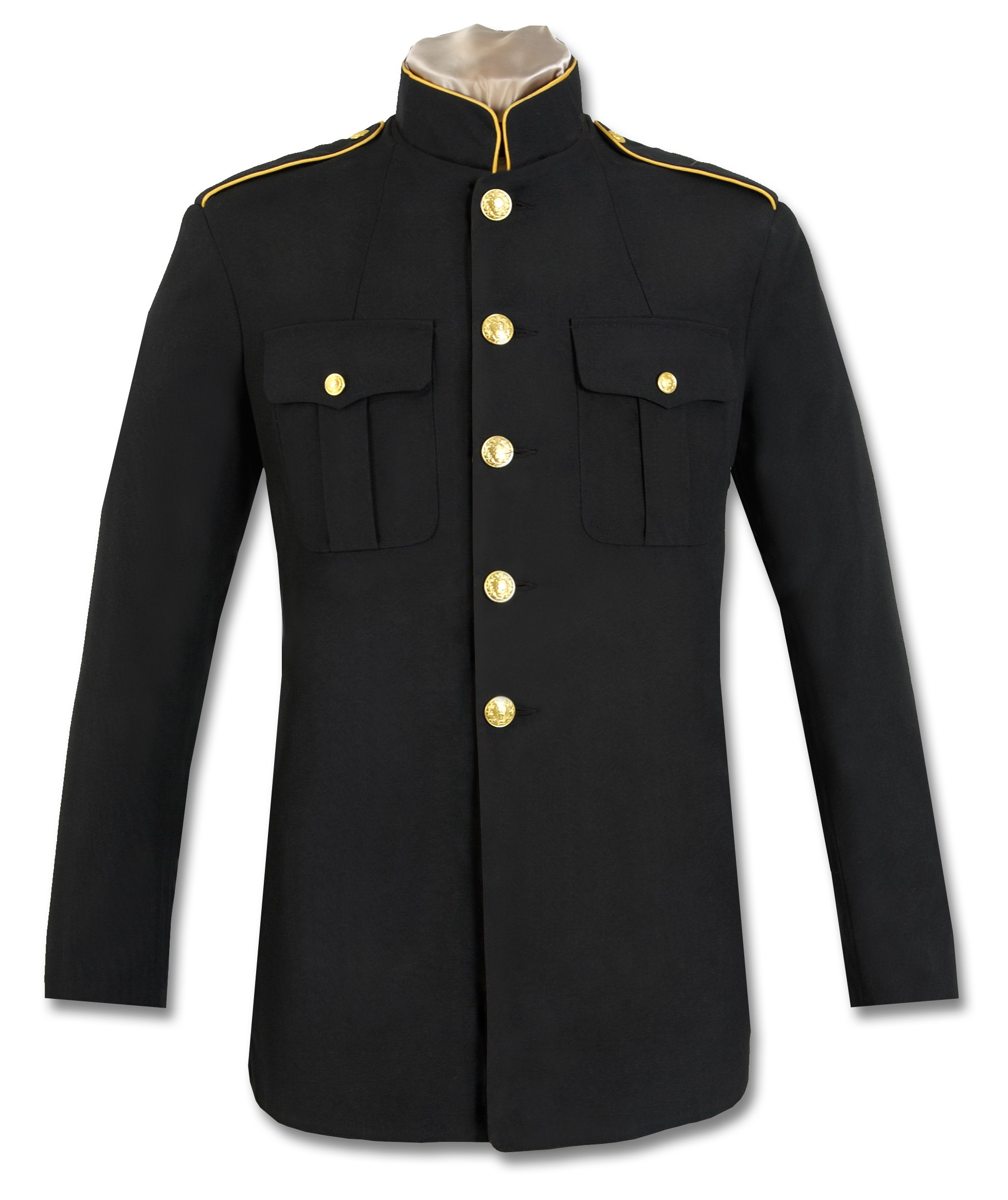 first responder high-collar dress coat DUBMUGA