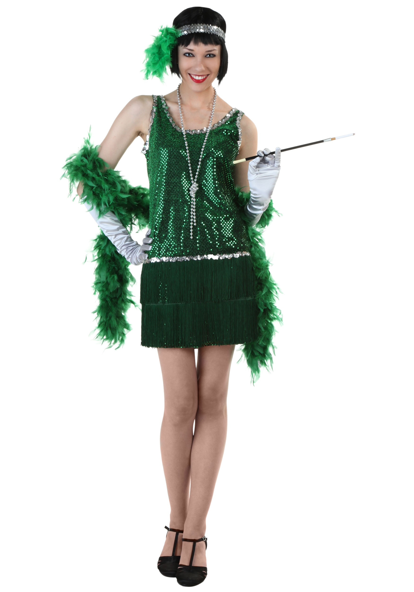 flapper dresses sequin u0026 fringe green flapper costume BKLRTNR