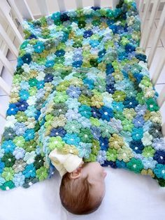 floral crochet baby blanket pattern (etsy). i want to learn to crochet just QNOTGNP