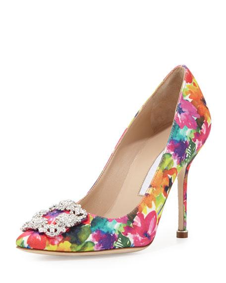 floral pump hangisi floral-print 105mm pump, multicolor JOGCMIM